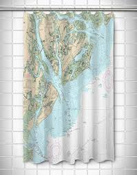 Nautical Chart Shower Curtains Map Shower Curtains Personalized