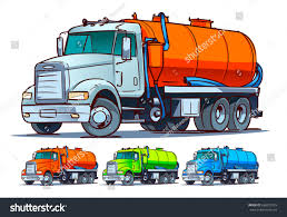 Septic Truck Cartoon Illustration Stock Vector (Royalty Free ...