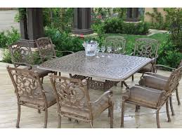 Square Patio Tablecloth With Umbrella Hole by Darlee Outdoor Living Series 60 Cast Aluminum 60 Square Dining