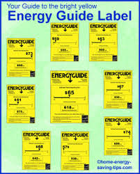 Graphic Showing Different Energy Guide Label Examples