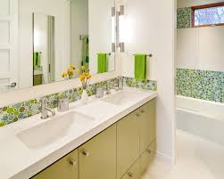 glass tile bathroom contemporary with glass tile