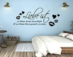 tjapalo s pkm287 wandtattoo schlafzimmer romantisch modern wandsticker liebe ist in deinen armen einzuschlafen b90 x h 35 cm