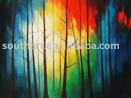 Abstract Trees Oil Painting In Calligraphy From Home Garden On Aliexpress