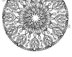 COLORING PAGE Instant Download Mandala 22 Hand Drawn Single Coloring Sheet