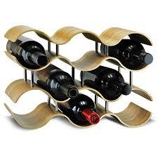 sevvia gewelltes weinregal aus weidenholz weinregal für 10 flaschen 4 stöckige weinregale eleganter weinflaschenhalter dekorative