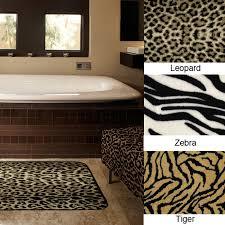 Zebra Print Bathroom Decor by Animal Print Bath Rugs Rug Designs