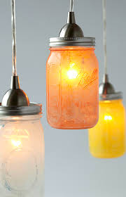 glass jar pendant lights