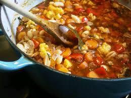 braisé d haricots blancs aux légumes et au bacon karine dans