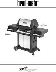 Brinkmann Electric Patio Grill Manual by Broil Mate Gas Grill 1159 94 User Guide Manualsonline Com