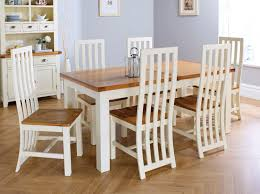 Country Oak 230cm Cream Painted Extending Dining Table & 6 Dorchester Cream  Painted Chairs - SUMMER SALE