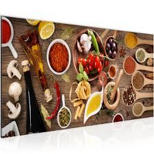 wandbilder bilder küche gewürze vlies leinwand bild