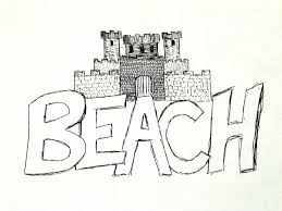 Sandcastle On A Beach Drawing By Jason Moore
