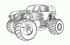 Bigfoot Coloring Page Unique Contour Monster Truck Car Drawing ...