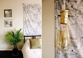 simple diy exposed hanging light bulb