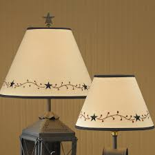Punched Tin Lamp Shades Canada by Punched Tin Star Or Willow Tree Lampshades Primitive Home Decors