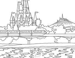 Walt Disney World Coloring Pages Pinterest