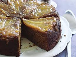Pear and Ginger Upside Down Cake Recipe