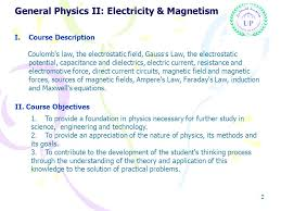 General Physics II Electricity Magnetism