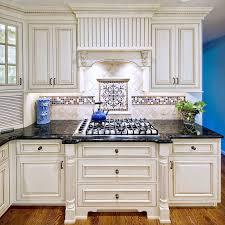 blue kitchen decorating using blue mexican tile mosaic kitchen