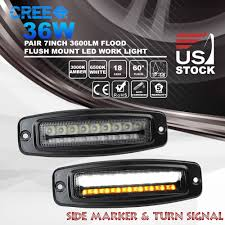 2x 7inch 36W CREE LED Flood Work Light Bar Flush Mount Truck Trailer ... Traxxas Xmaxx Led Lights Super Bright Easy To Install Youtube Eskate Thread Esk8 Aesthetics Electric Skateboard Truck Cap Interior Led Decor 45 Inch Round 25w Work Light 4x4 Alinium Cree Spot Flush Mount Rigid Sr Q Pro Flush Mount Led Back Up Cstruction Strobe For Commercial Spotflood Offroad Jeep Boat Ip67 12v 24v 10w Cheap Price 72w Work Light Bar 4x4 Offroad Truck Yintatech Bar 2pack 6 Flood 36w Off Road Ce Rohs Diy Single Row 24 Combo Modular Warning Lights On Xrll 27w Driving Forklift