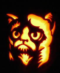 Cheshire Cat Pumpkin Carving Template by Carved Pumpkin Here U0027s Grumpy Cat Pattern By