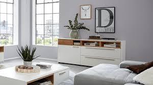 interliving wohnzimmer serie 2102 sideboard 510106 helles asteiche furnier weißer mattlack eine tür zwei klappen