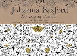 Johanna Basford 2017 Coloring Day To Day Calendar Johanna Basford