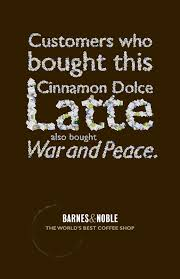 Barnes & Noble Outdoor Advert By Miami Ad School: Latte   Ads Of ... The Book Marketing Landscape Infographic Barnes Noble And Rutgers To Open Bookstore In Dtown Newark Wsj A Cmos View How College Builds Its Marketing Heres Why Amp Shares Are On The Rise Fortune Future Of Manga Looks Dire Amazing Stories Teen Scifi Book Covers At Cover Ideas Street Fight Daily Nook Adds Lbs Should Ebay Buy Groupon Case Studies Brand Partnerships Colleges Videos Vimeo Wants Clear Totchke Clutter Sell More Books