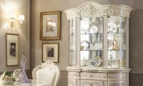 details zu vitrine wohnzimmerschrank beige hochglanz barockstil stil klassisch italienisch
