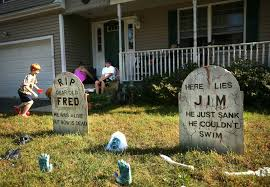 Funny Halloween Tombstones Epitaphs by Milford Halloween Displays Spark Political Spat Connecticut Post