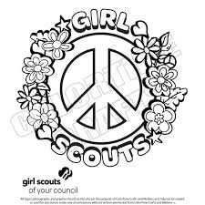 Free Coloring Pages For Girl Scouts Printable Download Image