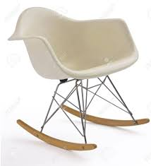 Isolated White Modern Eames Rocking Chair With Steel Legs Stock ... Mainstays Outdoor 2person Double Rocking Chair Walmartcom Modern White Tipp City Designs Buy Edgemod Em121whi Rocker Lounge In At Contemporary On The Back Side Isolated Background 3d Model Aosom Hcom Wood Indoor Porch Fniture For Grey And Illum Wikkelso Mid Century Wire Mesh By For Sale Black And Dcor The Lifestyle I Like White Plastic Rocking Chair Brighton East Sussex Gumtree Design Classic Eames Set