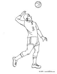 Volleyball Top Spin Serve Coloring Page
