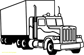 Semi Truck Coloring Pages To Print | Free Coloring Books