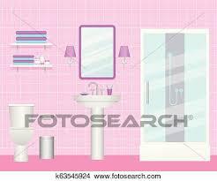 badezimmer interior vektor illustration zimmer mit