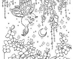 Coloring Page DownloadButterfly KittyAdult Or Kids PageGarden Illustration
