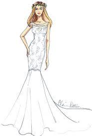 Jennifer Aniston Wedding Dress Designer Sketches
