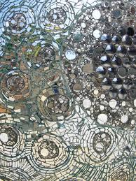 Close Up Of A Mosaic Glass Wall Broken Mirrors Anyone