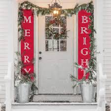 Christmas Decorations Outdoor Indoor Porch Sign Red Xmas Decor