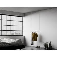 hängegarderobe schwarz 300cm clearambient colour schwarz maße 320 cm h x 100 cm b x 5 cm t