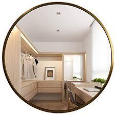 große runde goldrahmen wandspiegel dekorative spiegel for wohnzimmer flur rechteck 0708 color gold size 70cm