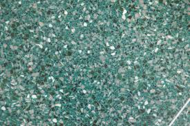 Terrazzo Flooring With Green Aggregates