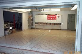 tiling garage floor idea what tile size etc ceramic