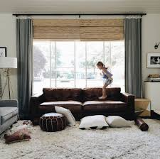 Dark Brown Leather Couch Living Room Ideas by Simple Decoration Curtains For Living Room With Brown Furniture