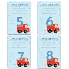 Personalised Fire Engine Birthday Invitations By Made By Ellis ...