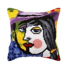 Orchidea Picasso Inspiration Pillow Cover Needlepoint Kit