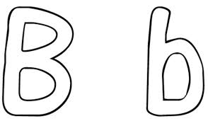 B Words Alphabet Coloring Pages Printable