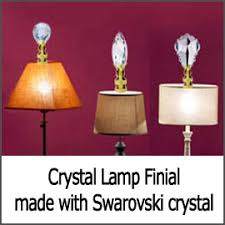 Crystal Table Lamp Finials by All Crystal Lamp Finials At Crystalplace