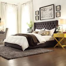 Roma Tufted Wingback Bed King by Best 25 Grey Platform Bed Ideas On Pinterest Queen Platform Bed