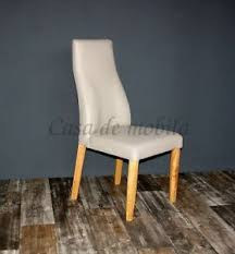 details zu polsterstuhl leder beige gestell eiche massiv geölt eßzimmer stuhl küchen stühle